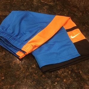 Youth Nike Blue, Black and Orange Athletic Shorts